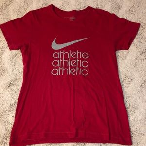 NIKE HOT PINK/RED ATHLETIC T-SHIRT